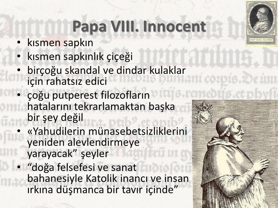 Papa VIII. Innocent kısmen sapkın kısmen sapkınlık çiçeği