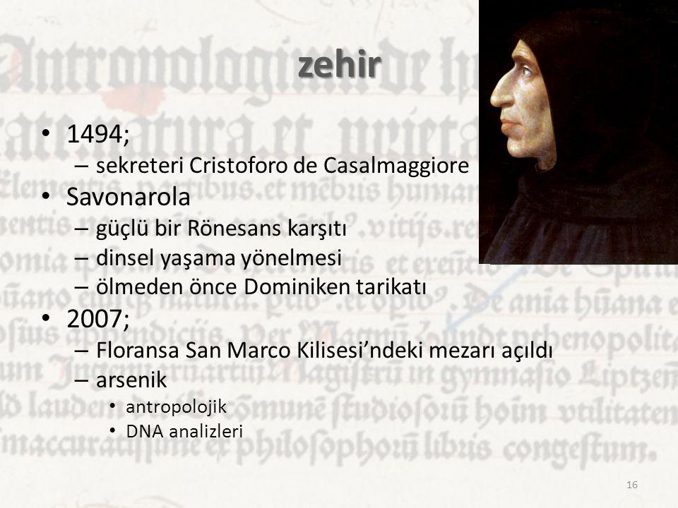 zehir 1494; Savonarola 2007; sekreteri Cristoforo de Casalmaggiore