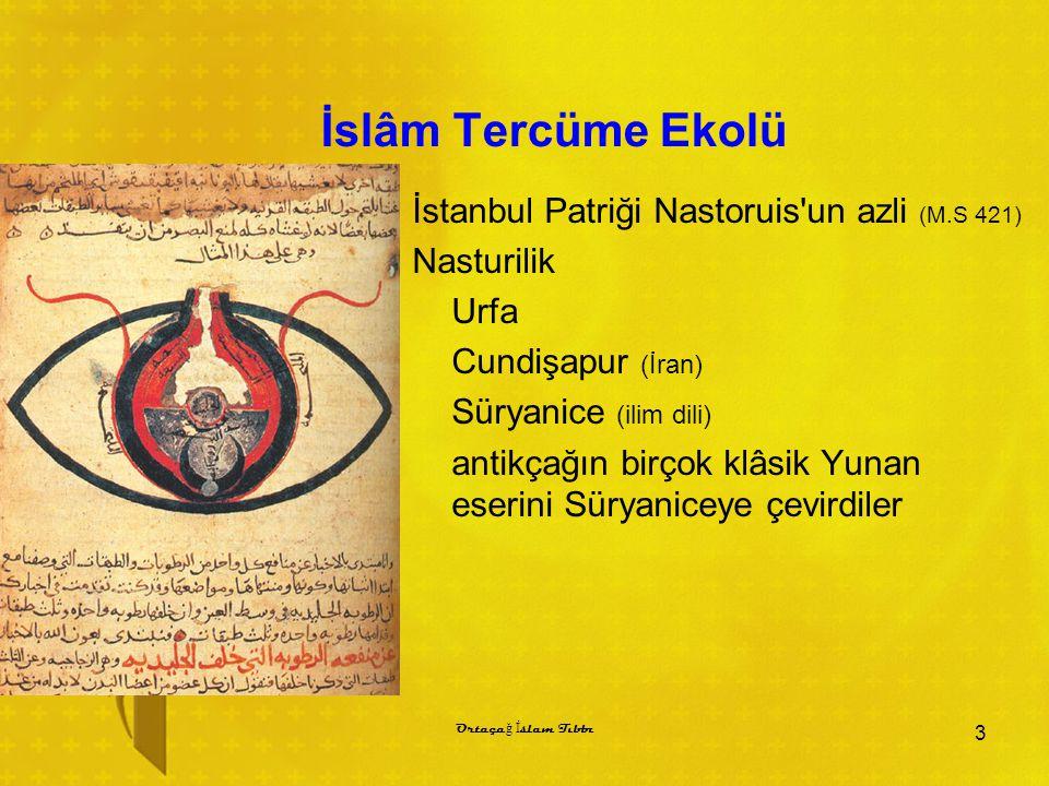 İslâm Tercüme Ekolü İstanbul Patriği Nastoruis un azli (M.S 421)