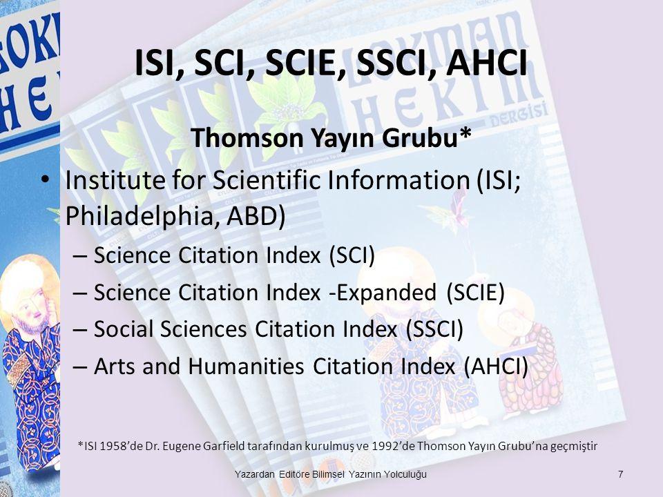 Yazardan Editöre Bilimsel Yazının Yolculuğu
