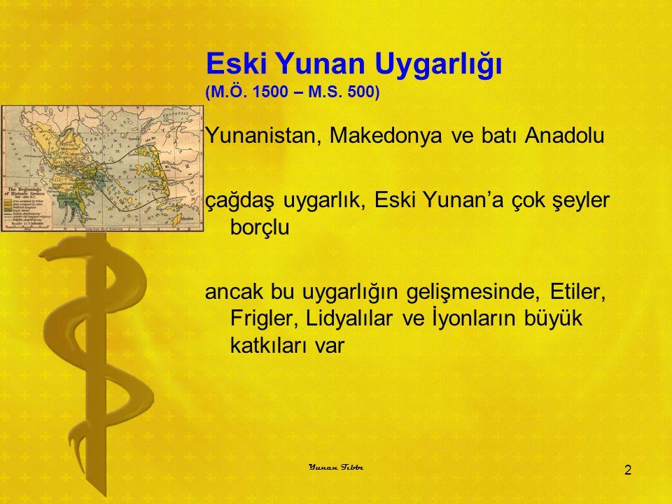 Eski Yunan Uygarlığı (M.Ö. 1500 – M.S. 500)