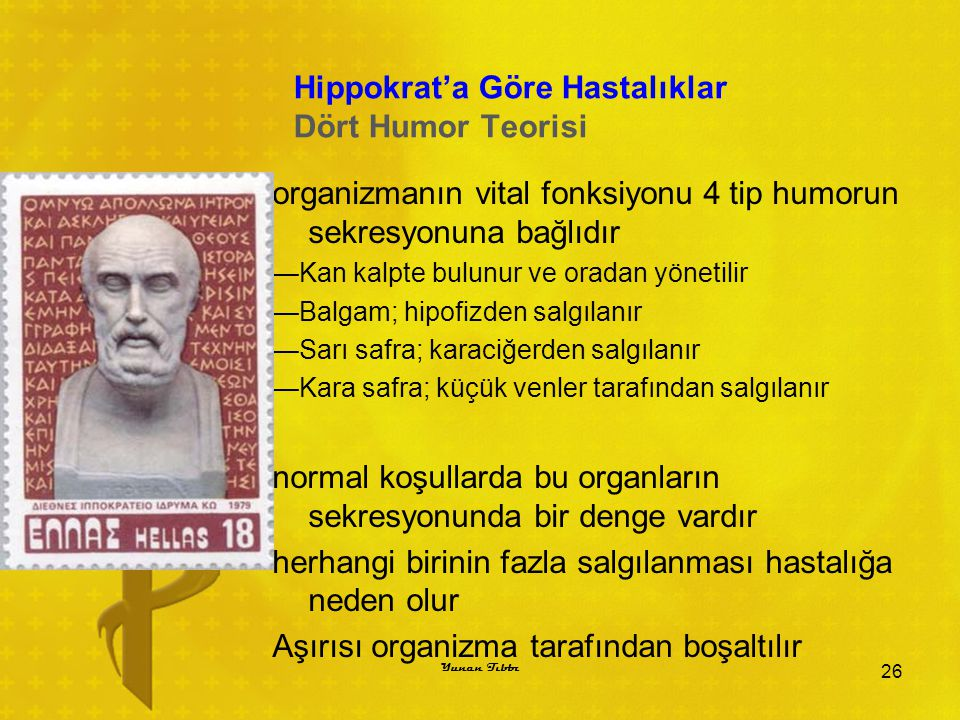 Hippokrat'a Göre Hastalıklar Dört Humor Teorisi