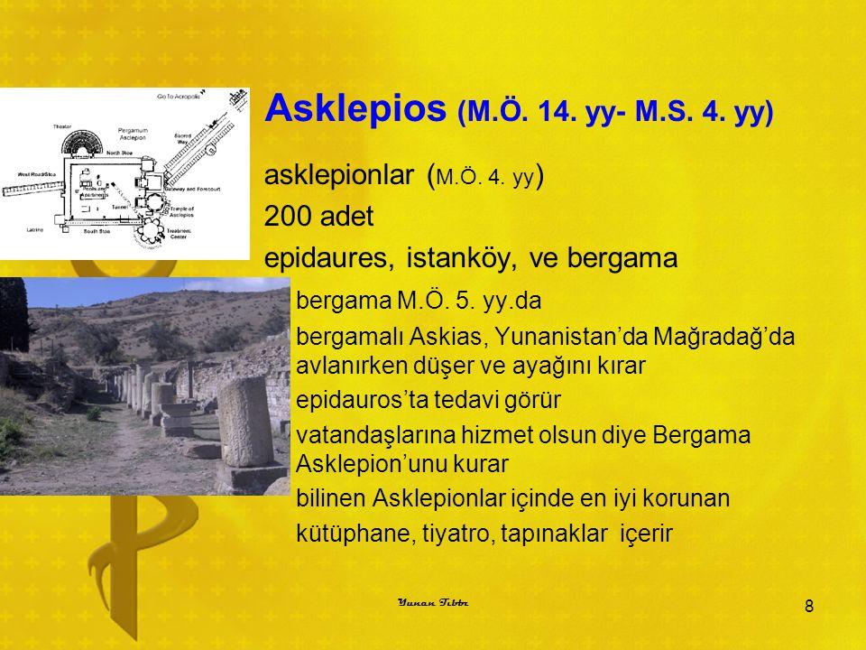 Asklepios (M.Ö. 14. yy- M.S. 4. yy)