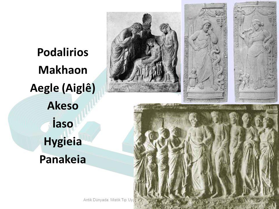 Podalirios Makhaon Aegle (Aiglê) Akeso İaso Hygieia Panakeia