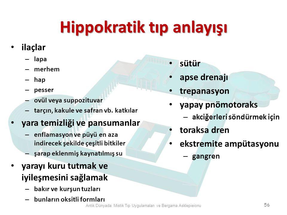 Hippokratik tıp anlayışı