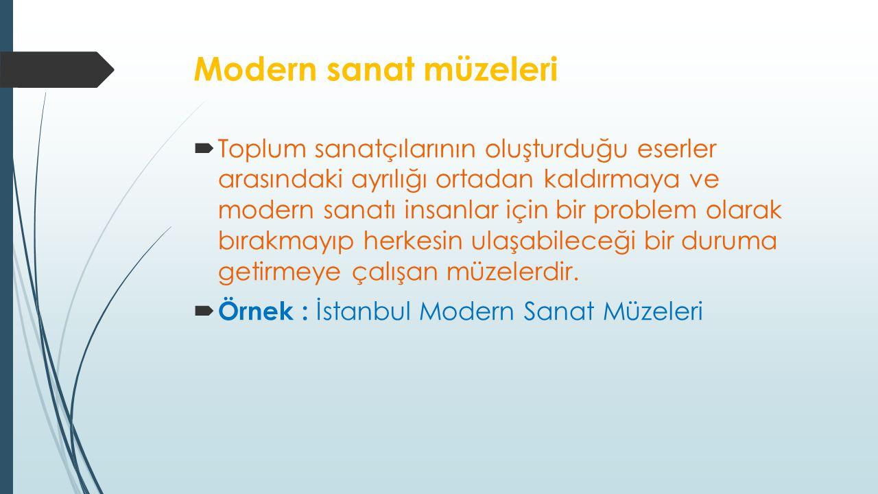 Modern sanat müzeleri