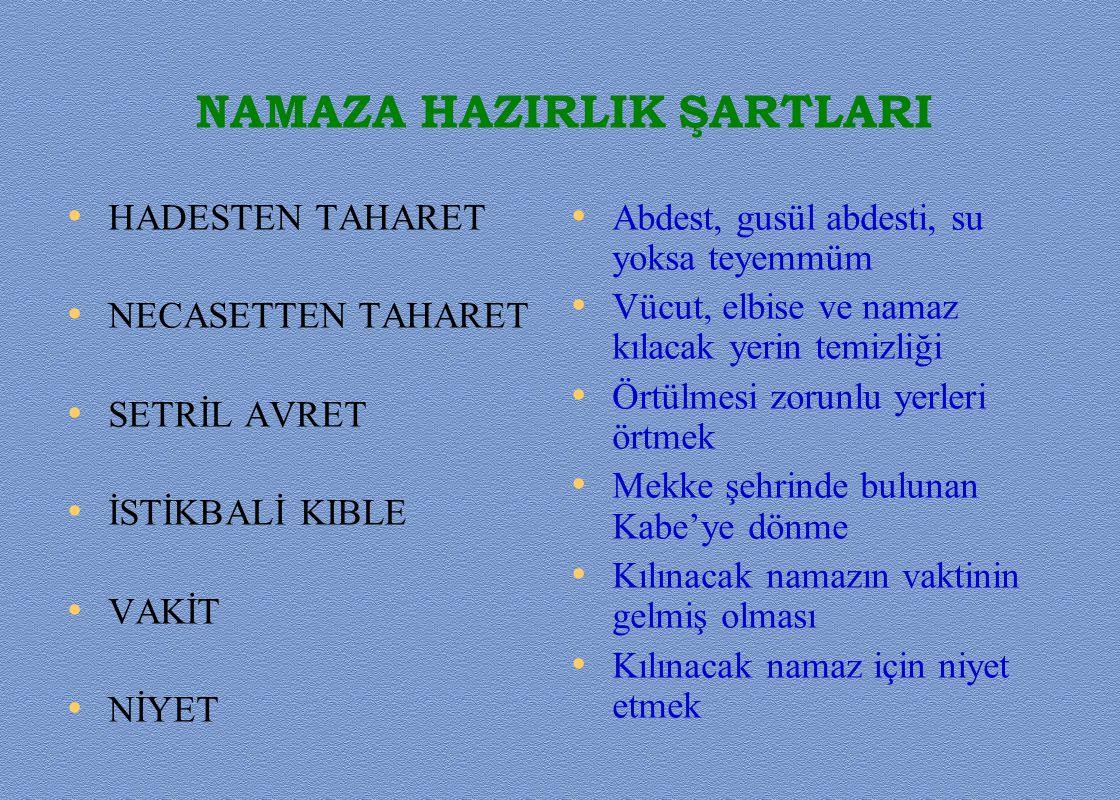 NAMAZA HAZIRLIK ŞARTLARI