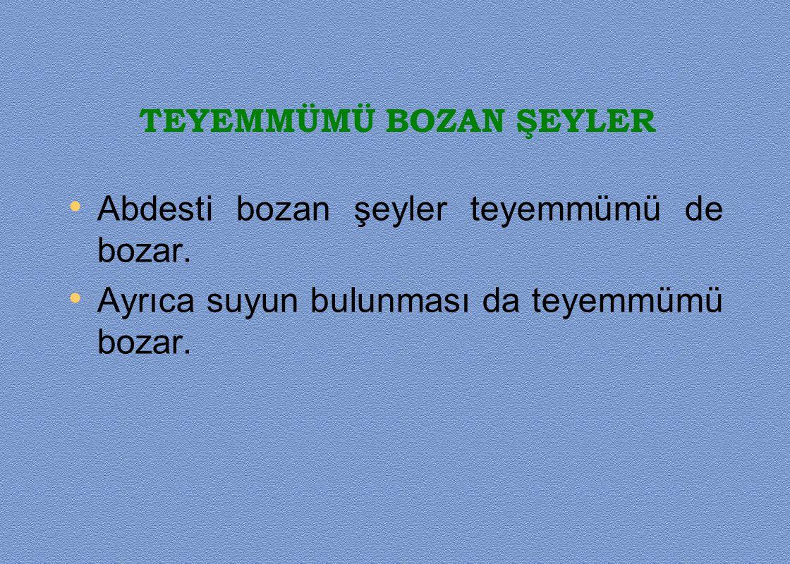 TEYEMMÜMÜ BOZAN ŞEYLER