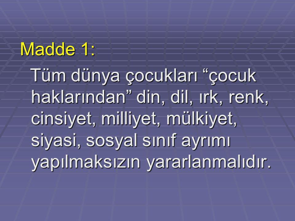 Madde 1: