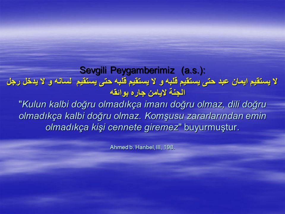 Sevgili Peygamberimiz (a. s