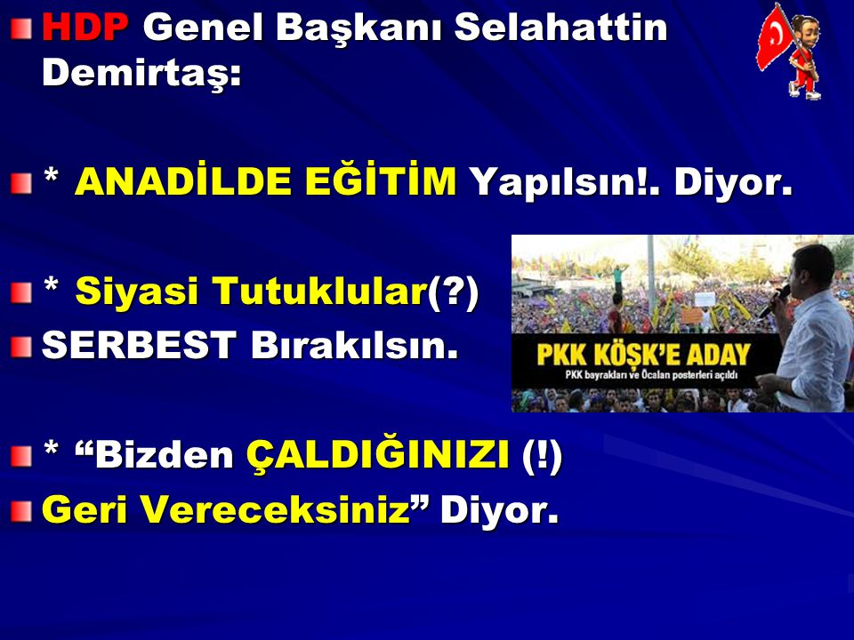 HDP Genel Başkanı Selahattin Demirtaş: