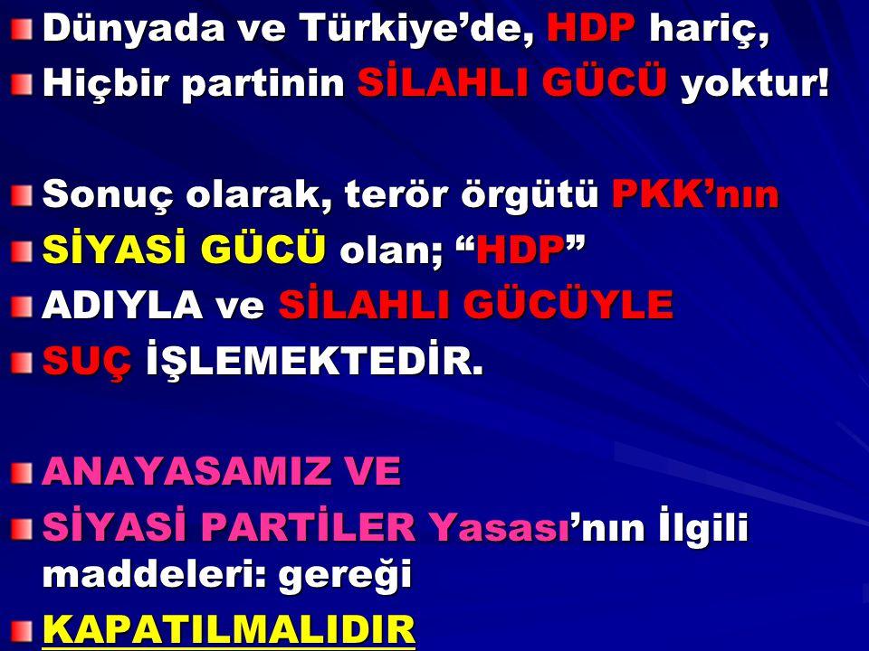Dünyada ve Türkiye'de, HDP hariç,