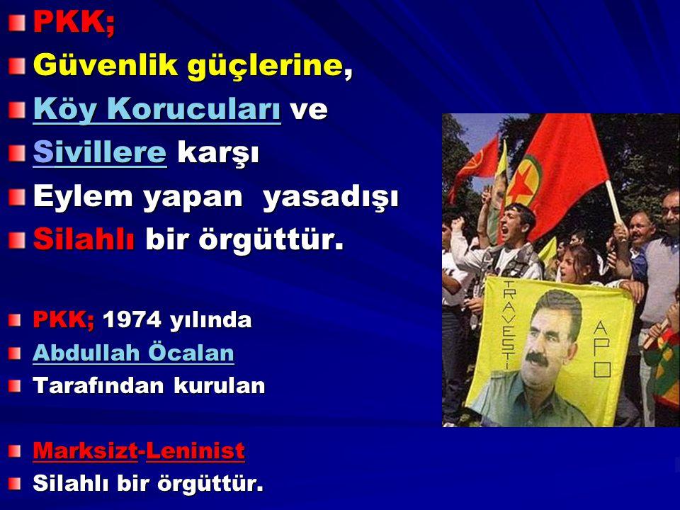 PKK; Güvenlik güçlerine, Köy Korucuları ve Sivillere karşı