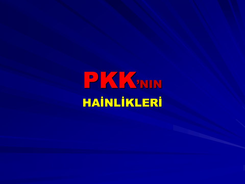 PKK'NIN HAİNLİKLERİ
