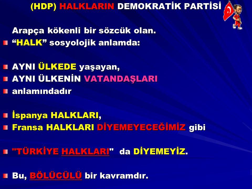 (HDP) HALKLARIN DEMOKRATİK PARTİSİ