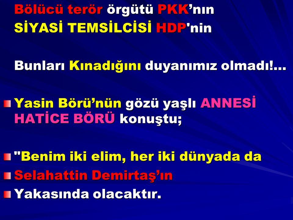 Bölücü terör örgütü PKK'nın