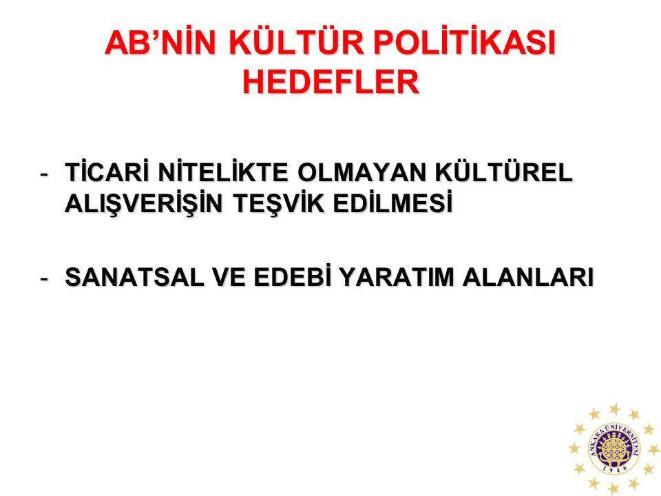 AB'NİN KÜLTÜR POLİTİKASI HEDEFLER