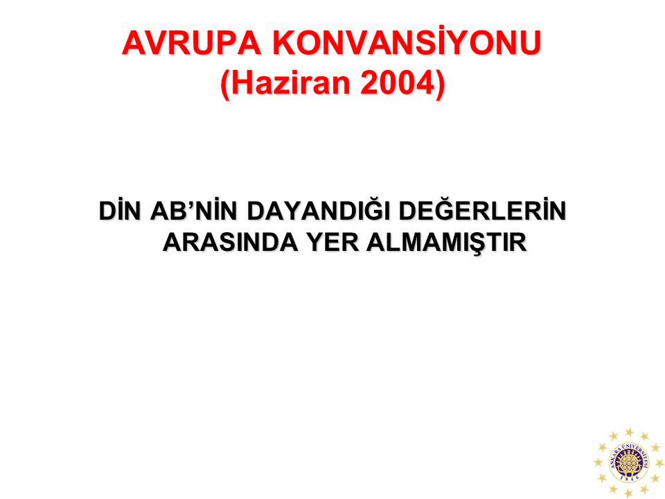 AVRUPA KONVANSİYONU (Haziran 2004)