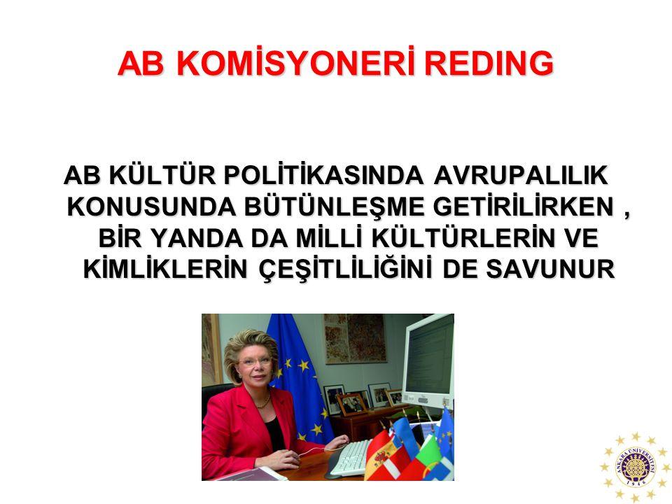 AB KOMİSYONERİ REDING