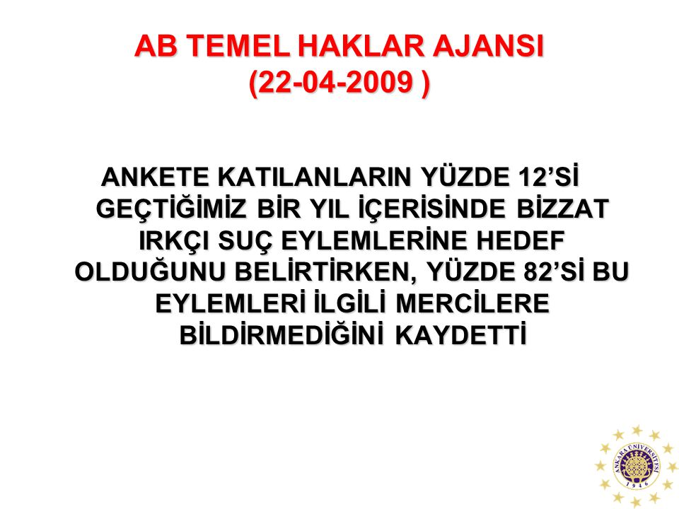 AB TEMEL HAKLAR AJANSI (22-04-2009 )