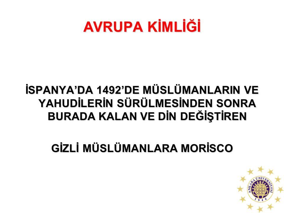 GİZLİ MÜSLÜMANLARA MORİSCO