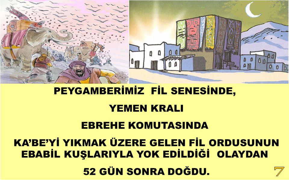 PEYGAMBERİMİZ FİL SENESİNDE,