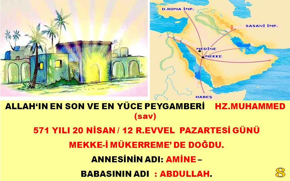ALLAH'IN EN SON VE EN YÜCE PEYGAMBERİ HZ.MUHAMMED (sav)