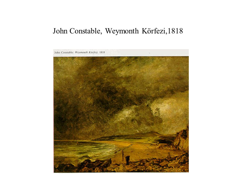 John Constable, Weymonth Körfezi,1818