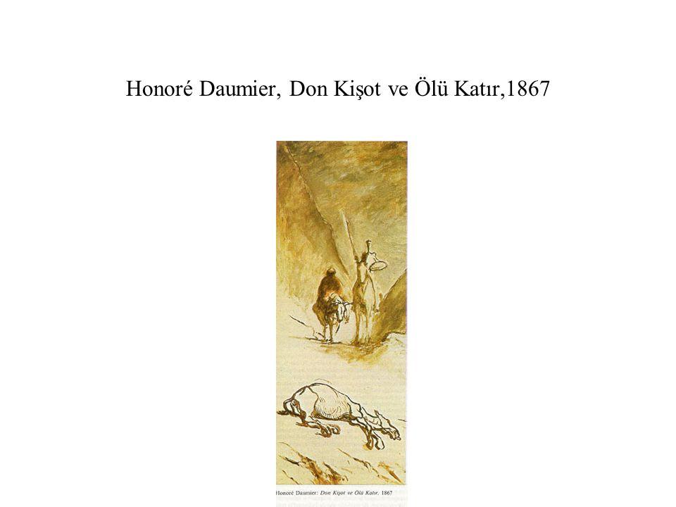 Honoré Daumier, Don Kişot ve Ölü Katır,1867