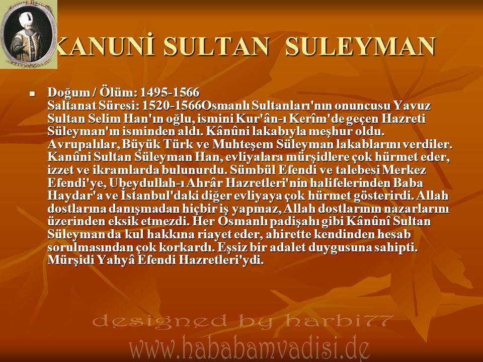 KANUNİ SULTAN SULEYMAN