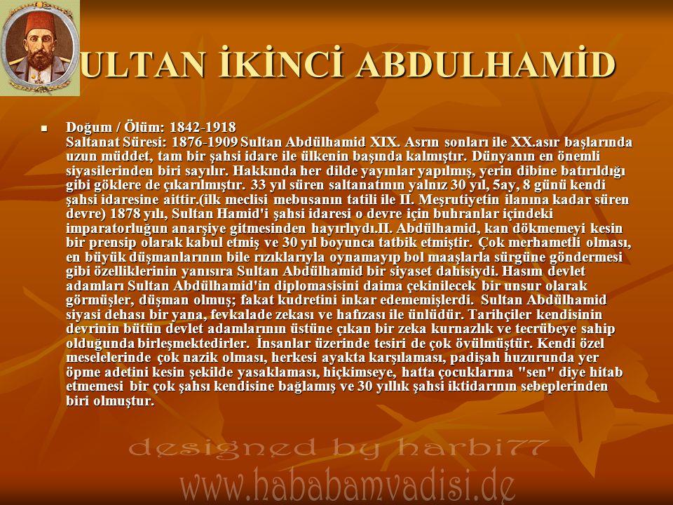 SULTAN İKİNCİ ABDULHAMİD