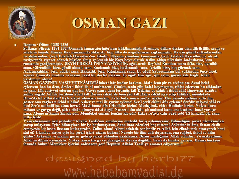 OSMAN GAZI designed by harbi77 www.hababamvadisi.de