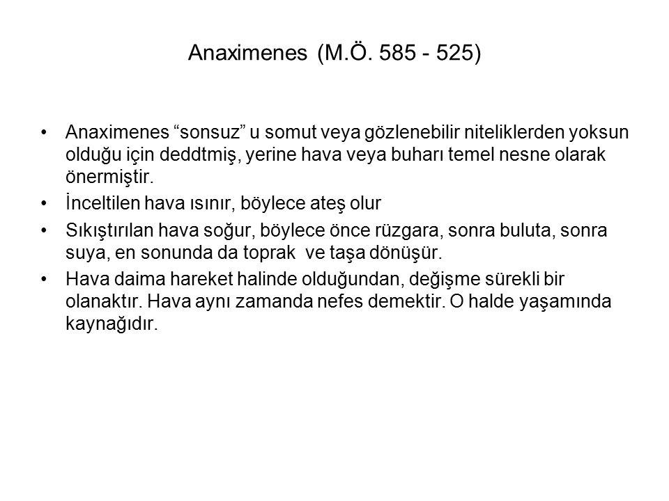 Anaximenes (M.Ö. 585 - 525)