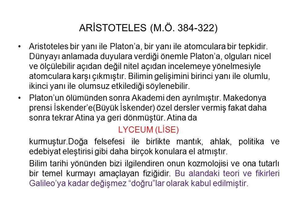 ARİSTOTELES (M.Ö. 384-322)