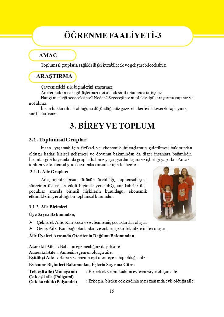 AMAÇ ÖĞRENME FAALİYETİ-3