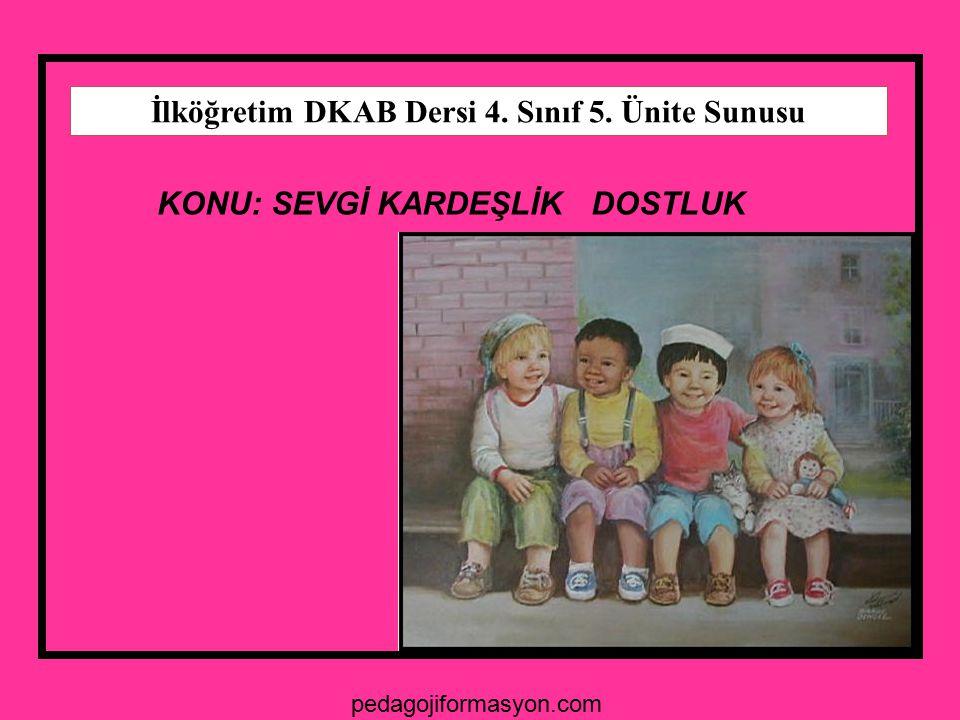 İlköğretim DKAB Dersi 4. Sınıf 5. Ünite Sunusu