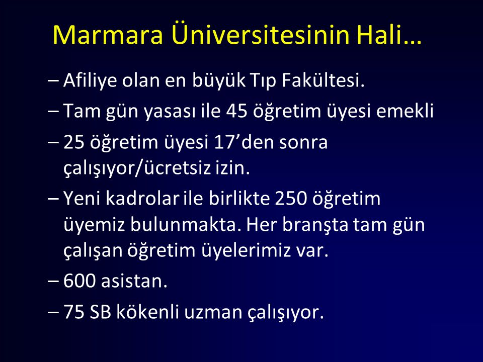Marmara Üniversitesinin Hali…