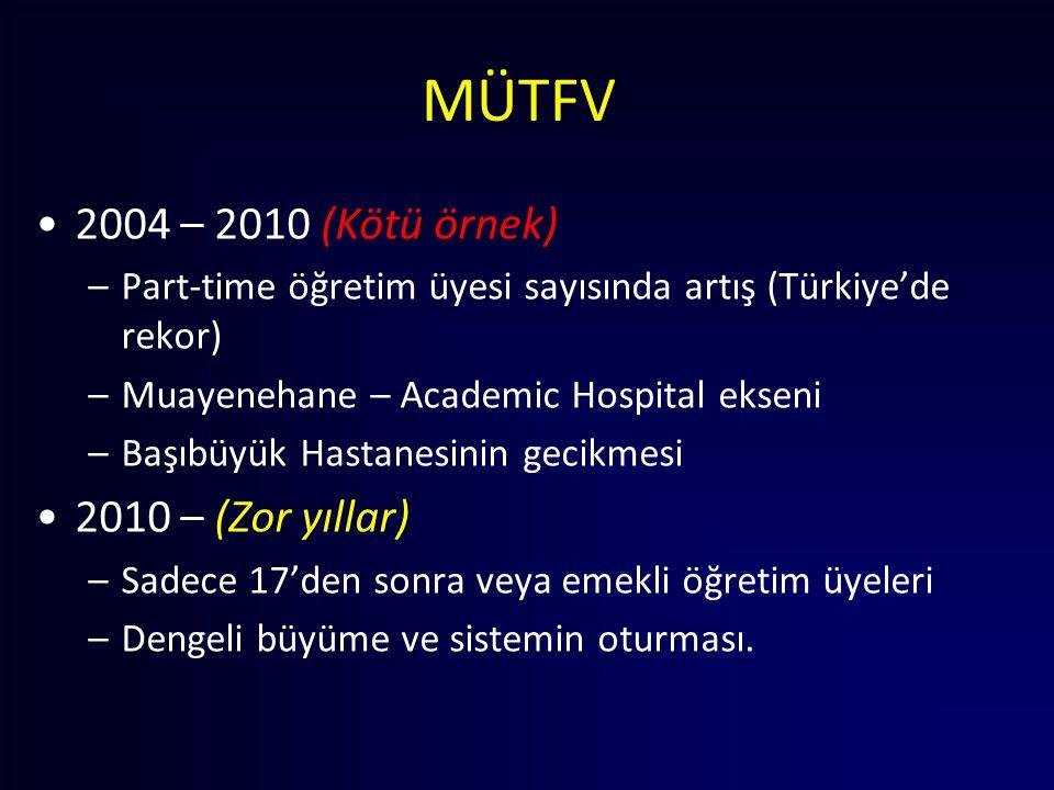 MÜTFV 2004 – 2010 (Kötü örnek) 2010 – (Zor yıllar)