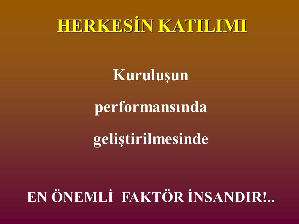 EN ÖNEMLİ FAKTÖR İNSANDIR!..