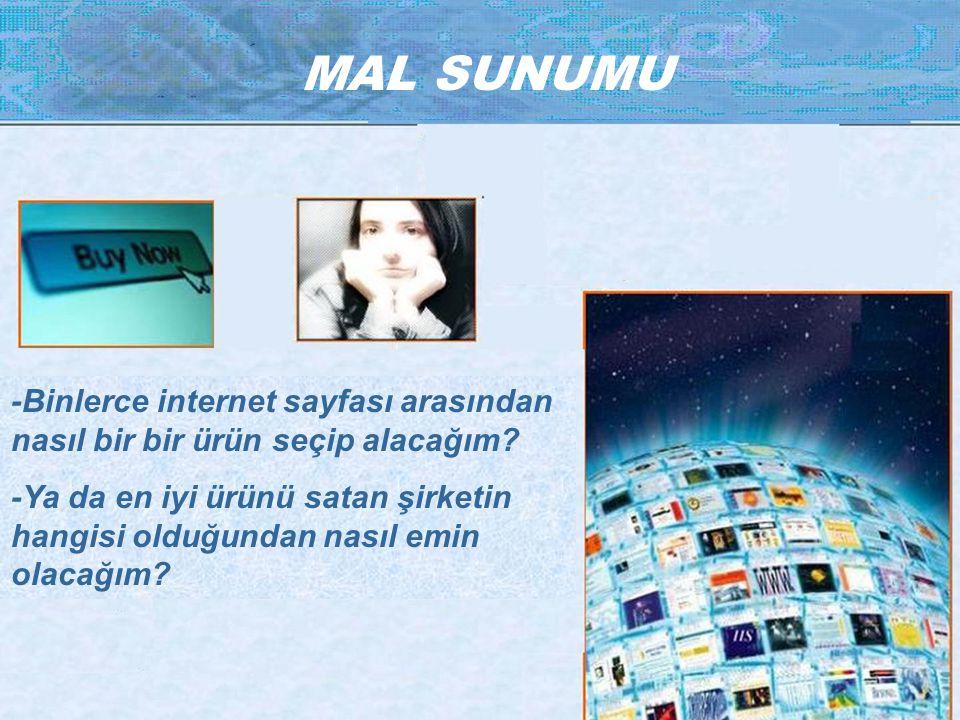 MAL SUNUMU -Binlerce internet sayfası arasından nasıl bir bir ürün seçip alacağım