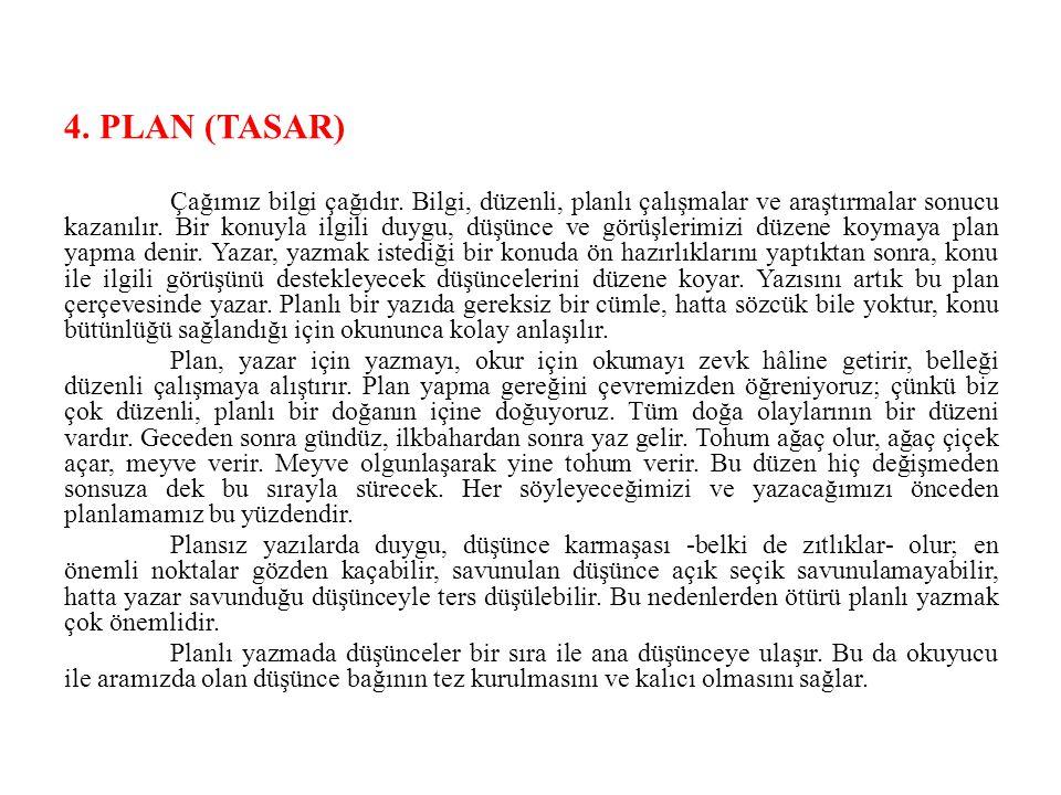 4. PLAN (TASAR)