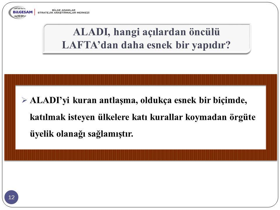 ALADI, hangi açılardan öncülü LAFTA'dan daha esnek bir yapıdır