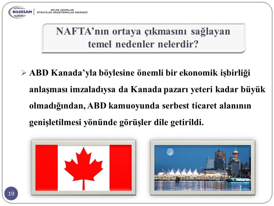 NAFTA'nın ortaya çıkmasını sağlayan temel nedenler nelerdir