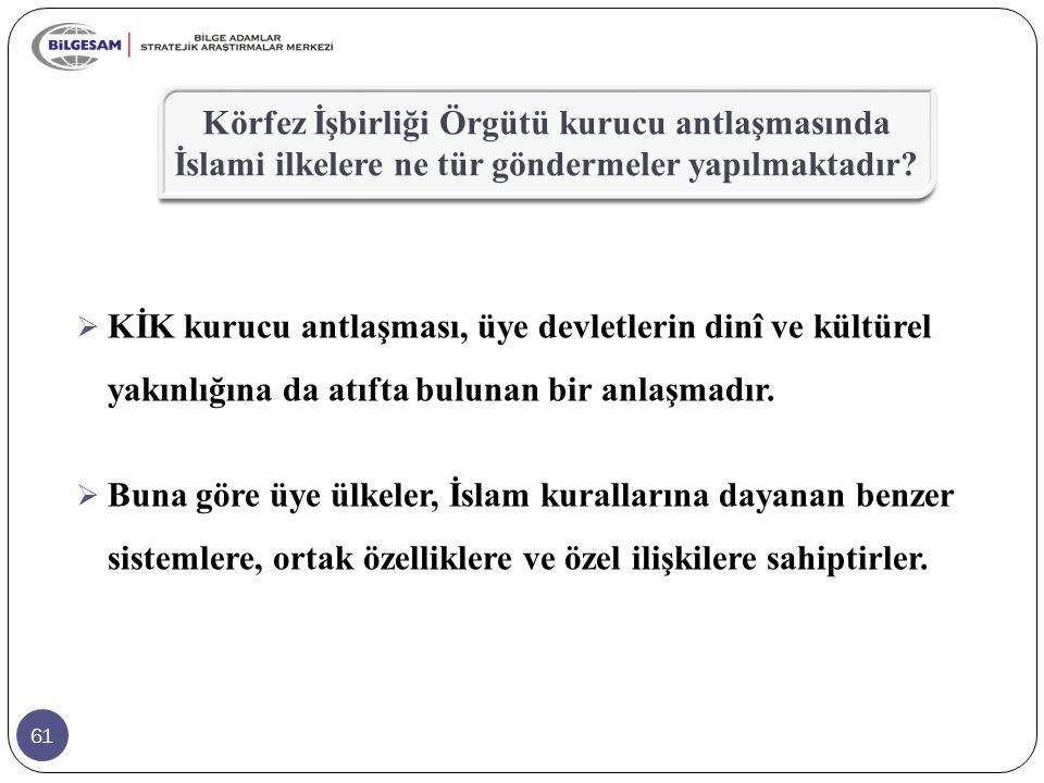 Körfez İşbirliği Örgütü kurucu antlaşmasında İslami ilkelere ne tür göndermeler yapılmaktadır