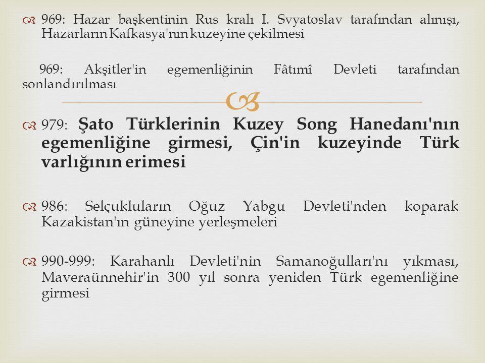 969: Hazar başkentinin Rus kralı I