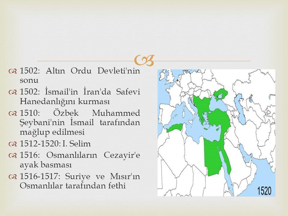 1502: Altın Ordu Devleti nin sonu