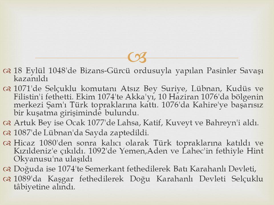18 Eylül 1048 de Bizans-Gürcü ordusuyla yapılan Pasinler Savaşı kazanıldı