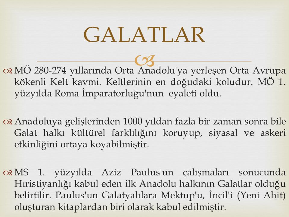GALATLAR