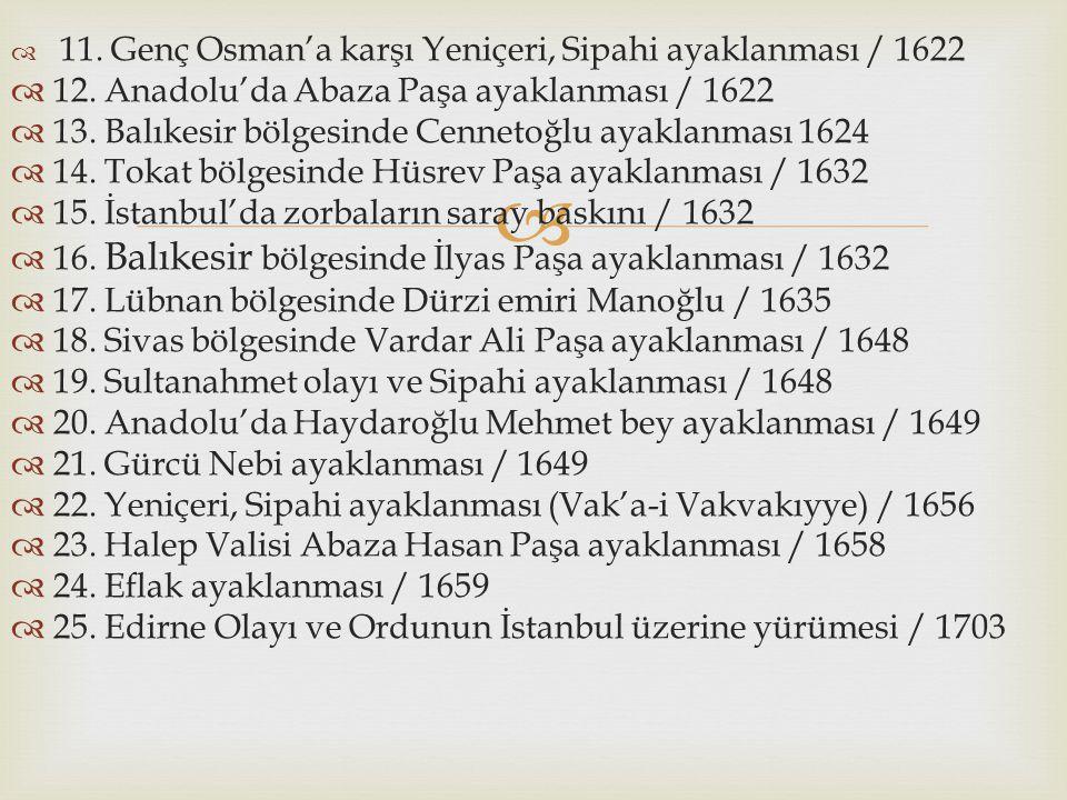 12. Anadolu'da Abaza Paşa ayaklanması / 1622