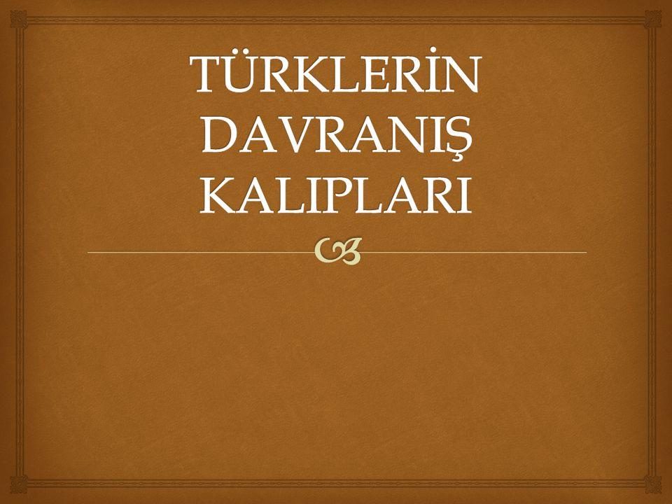 TÜRKLERİN DAVRANIŞ KALIPLARI